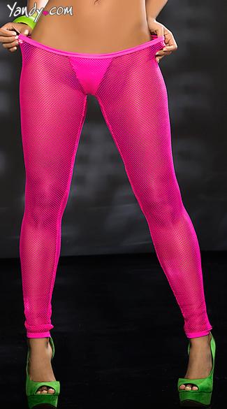 Neon Fishnet Leggings, Net Leggings with Panty