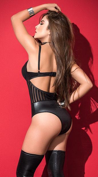 Midnight Vixen Bodysuit - Black