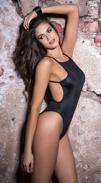 Strappy Black Bodysuit - Black