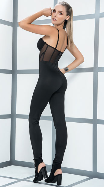 Black Bodice Jumpsuit - Black