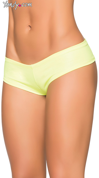 Basic Wet Look Boyshort - Wet Green