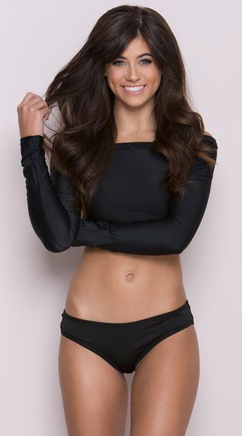 Scrunch Back Bikini Panty - Black