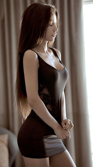Lace Side Tank Dress Sexy Little Black Dress Skin Tight