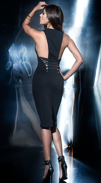 Black Criss Cross Back Dress Sexy Black Dress Yandy Com