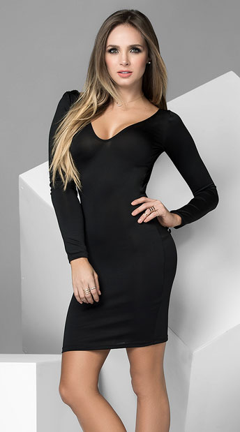 Your Favorite Cocktail Dress, long sleeve dress - Yandy.com