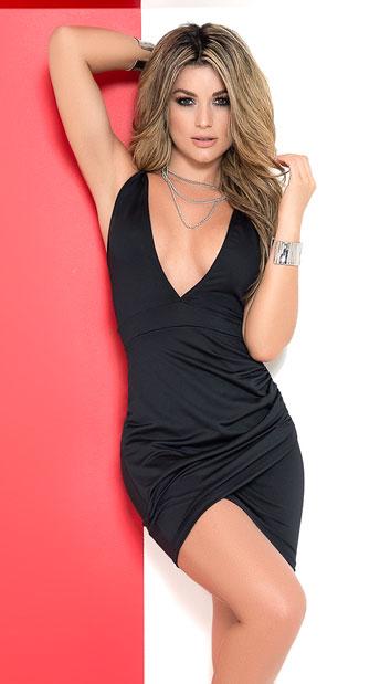 5cbd328ca0d Demure Beauty Mini Dress - Black ...