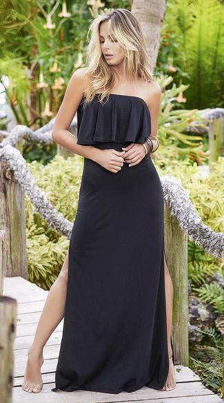 Island Paradise Maxi Dress - Black