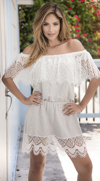 Grey Crochet Sun Dress