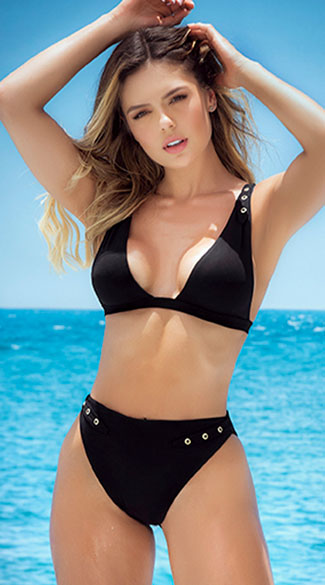 San Salvador High Waist Bikini - Black