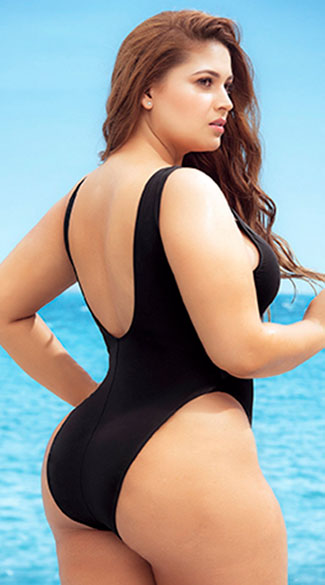 Plus Size Pamalican Island One Piece Swimsuit - Black