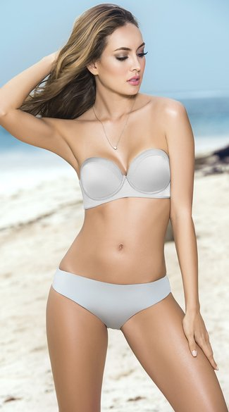 Classic Metallic Bandeau Bikini - as shown