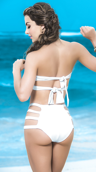 Wrapped High-Waisted Strappy Bikini - as shown