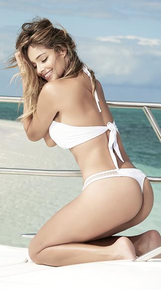 Netted Sporty Bikini - White