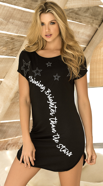 Shining Brighter Sleep Shirt - Black