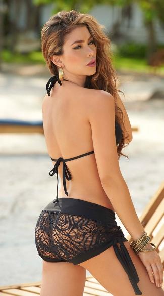 Lace Shorts - Black