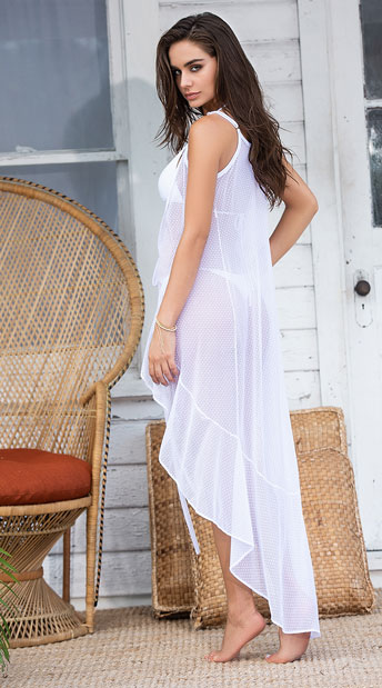 Riptide Wrap Cover-Up Maxi Dress - White