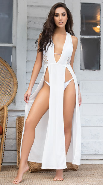 Summer Breeze Cover-Up Maxi Dress - Ivory