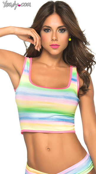 Fantasy Girl Crop Top - Rainbow