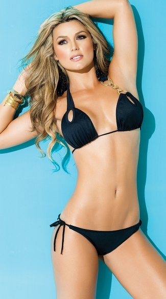 Exclusive Hardware Hottie Bikini Top - Black