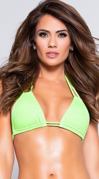 Yandy Double Strapped Bikini Top - Green