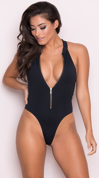Pink cunt erotic one piece swimsuits