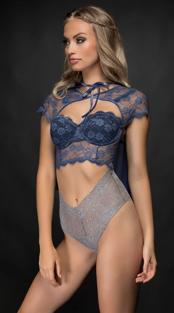 Yandy Mother of Dragons Fantasy Lingerie Costume - Blue/Grey