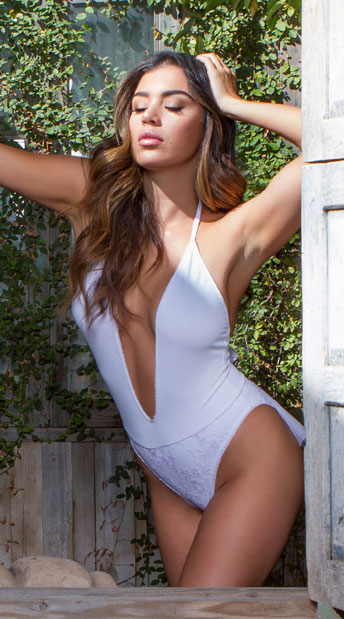 Yandy Modern Bride One Piece Swimsuit - White