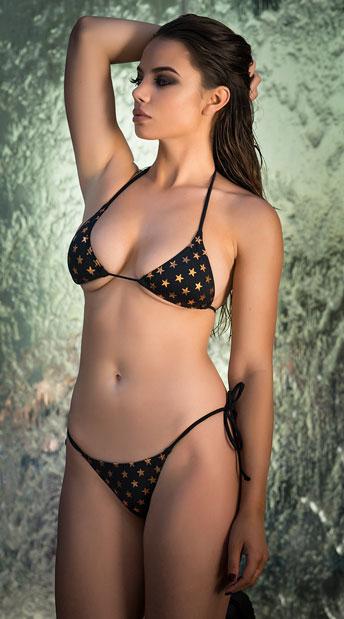 9144d203dea85 Yandy Golden Star String Bikini Bottom - Black ...