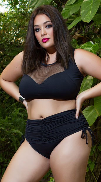 57668ed8b1 Yandy Plus Size Ruched Perfection Bikini Bottom - Black ...