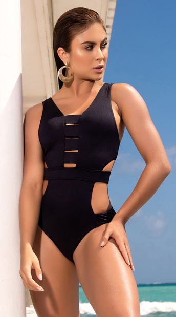 Yandy Royal Hideaway One Piece Swimsuit - Black