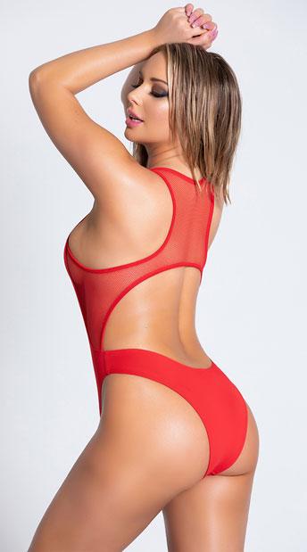 Yandy Sandy Sunstone One Piece Swimsuit - Red