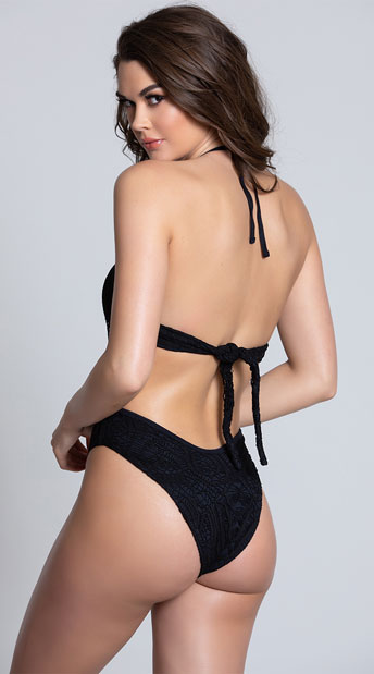 Yandy Bayberry Beauty Monokini - Black
