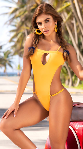 Yandy Turn It Up Monokini - Toscany Yellow