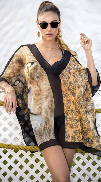 Sexy Yandy Draping Lioness Cover-up