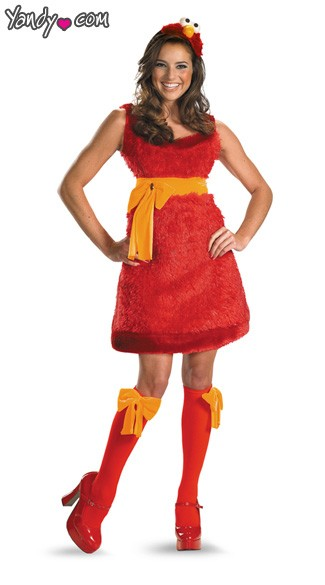 Sexy Adult Elmo Costume, Adult Elmo Halloween Costume, Adult Tickle Me Elmo Costume