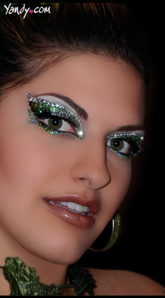 Envy Green Glitter Eye Kit, Green Glitter Make Up