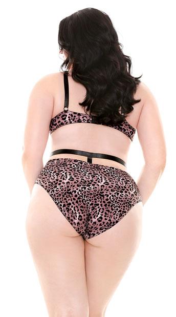 Plus Size Jocelyn Leopard Bra Set - Animal Print