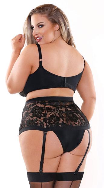 Plus Size Monique Bra Set - Black