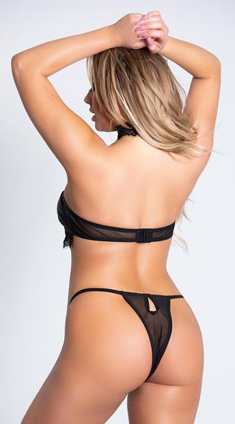 Unleashed Sleek Bralette Set - Black