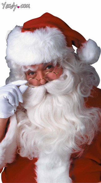 Santa Wig and Beard Set - White