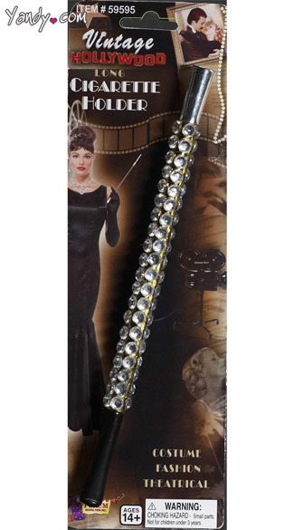 Jeweled Cigarette Holder - Black