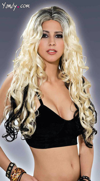 To Dye For Wig, Black and Blonde Wig, Two Tone Wig