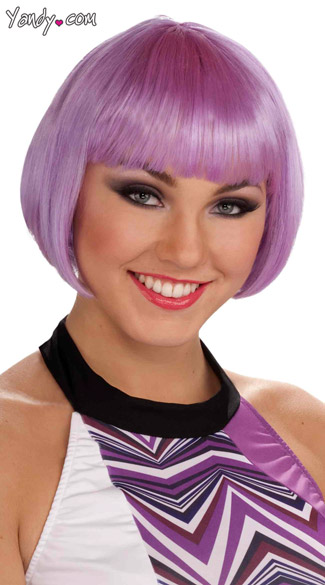 Chic Bobbed Lilac Wig Bobbed Purple Wig Short Purple Wig