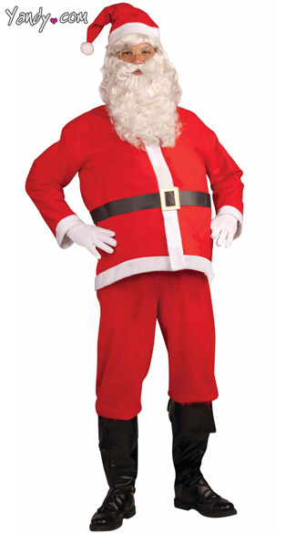 Basic Santa Claus Costume - Red
