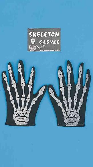 Bony Hands Stretch Gloves - Black/White