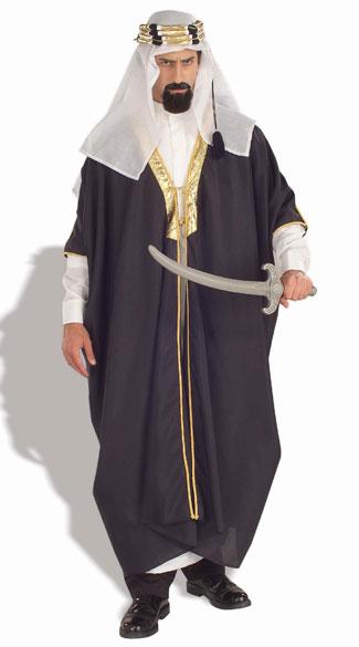 Men's Sheik Costume - As Shown