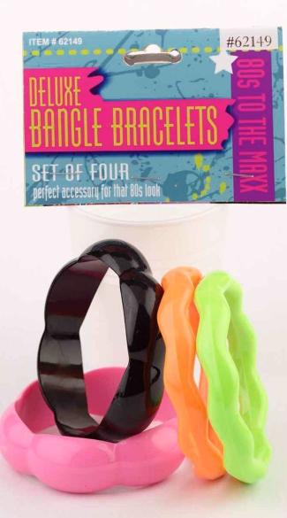 Deluxe Zig Zag Bangle Bracelets - Multicolor
