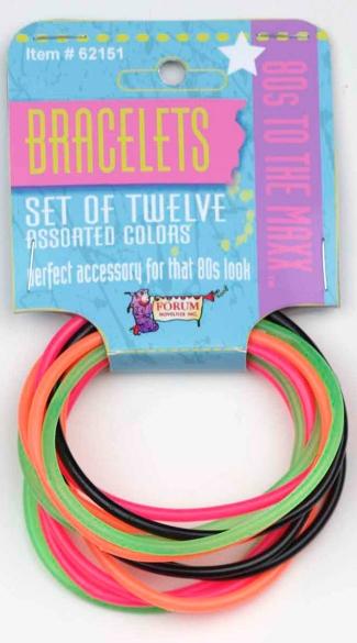 80s Bracelet Set - Multicolor