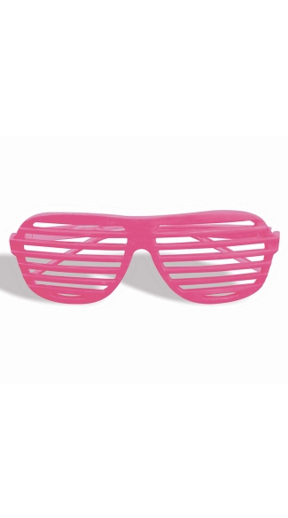 Neon Pink Slotted Glasses - Neon Pink