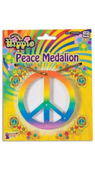 Rainbow Peace Medallion Necklace - Rainbow